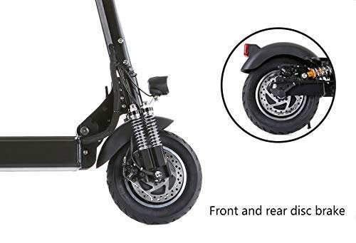 NANROBOT D4+High Speed Electric Scooter -Portable Folding, 40 MPH and 45 Mile Range of Riding, 2000W & 330lb Load