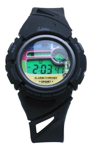 Quiksilver - Reloj para niños de cuarzo, correa de goma color negro