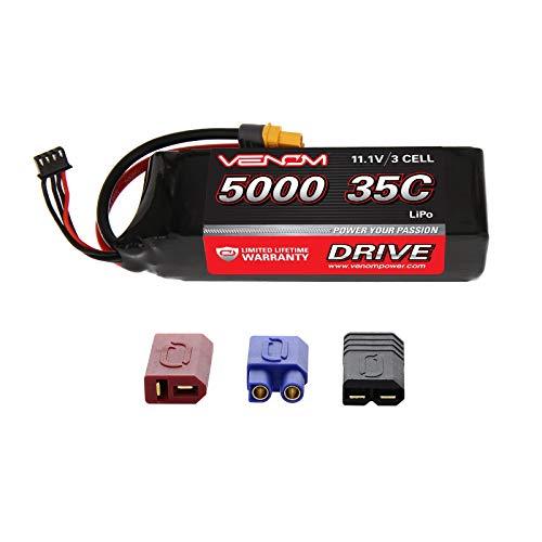 Venom 35C 3S 5000mAh 11.1V LiPo Battery with Universal Plug 2.0 (Traxxas / Deans / ()