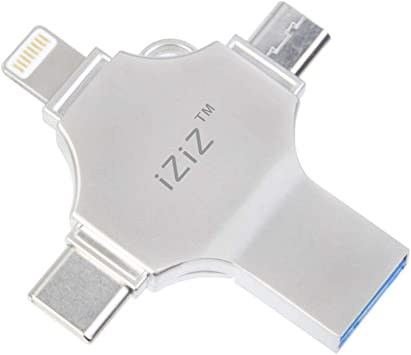 128GB iziz USB 3.0 Flash Drive for iPhone and Android,Flash Drive for iPhone//MacBook pro//Android Phones//iPad//Laptop//Mac//Computer