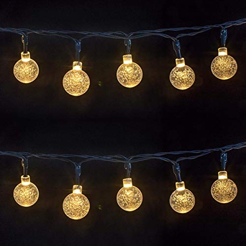 JUSTOYOU Globe String Lights 14.8 FT 30 LED Starry Fairy Lights Christmas Ball for Festival Party Birthday Garden Home Use(Warm White Light) from JUSTOYOU