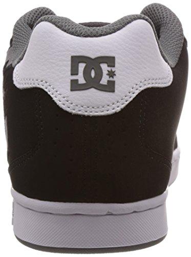 DC NET M SHOE XKWS - zapatilla deportiva de cuero hombre multicolor - Mehrfarbig (BLACK/WHITE/GREY-XKWS)