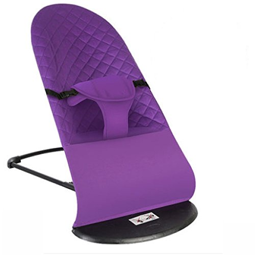 Swing Dual Recliner (YIHANGG Balance Bouncer Swings Chair Bouncers Baby Rocking Chair Multi-Functional Comfort Chair Recliner Dual-use Folding Newborn Cradle,Purple)