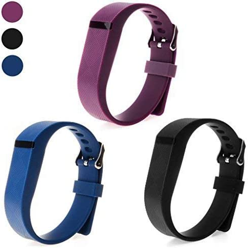 Austrake for Fitbit Flex Bands with Buckle, Replacement Wristband for Fitbit Flex Silicone Strap and Clasp for Women Men Kids 3 Packs