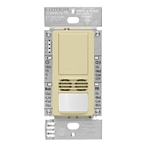 Lutron MS-B102-V-AL Motion Sensor, 120V/277V Single-Pole Maestro Vacancy Sensor Switch - Almond by Lutron