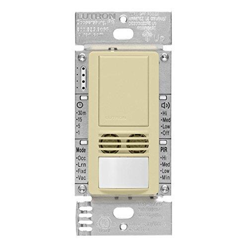 Lutron MS-B102-V-AL Motion Sensor, 120V/277V Single-Pole Maestro Vacancy Sensor Switch - Almond