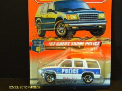 #30 of 75 '97 Chevy Tahoe Police Matchbox (Matchbox Chevy Tahoe)