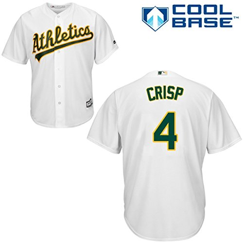 Oakland Athletics Authentic Cool Base (Coco Crisp Oakland Athletics #4 MLB Men's Cool Base Home Jersey)