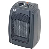 1500 Watts, 5,120-BTU, Multi-Purpose Ceramic Heater With Thermostat, Black