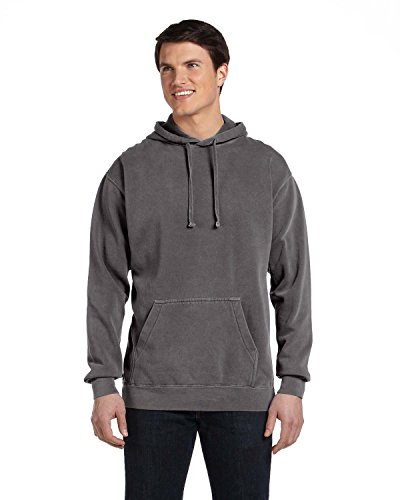 Garment Dyed Pullover Hood (Comfort Colors 9.5 oz. Garment-Dyed Pullover Hood (1567)- PEPPER,S)