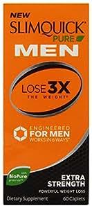 Slimquick Pure Men Extra Strength Weight Loss Supplement, 60 Count