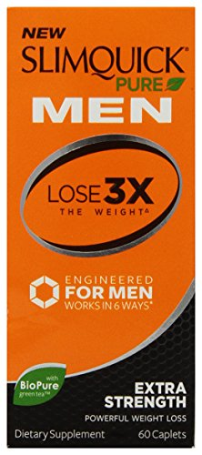 Slimquick Pure Men Extra Strength Weight Loss Supplement, 60