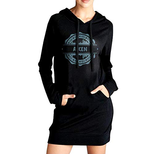 X-JUSEN Gril's Durham North Carolina Tunic Top Hoodie Sweatshirt Dress, Long-Line Cover The Hips Hooded Blouse, Warm T-Shirts]()