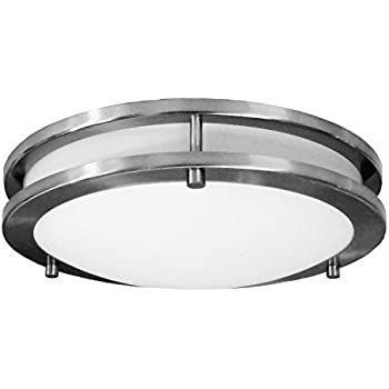 HomeSelects 6102 Saturn 2 Light Flush Mount, 12""