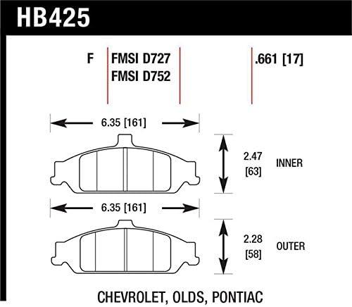 Hawk Performance HB378B.565 HPS 5.0 Disc Brake Pad