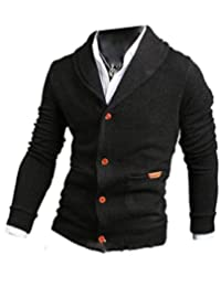 CFD Men's Casual Button Up Long Sleeves Cardigan Sweater