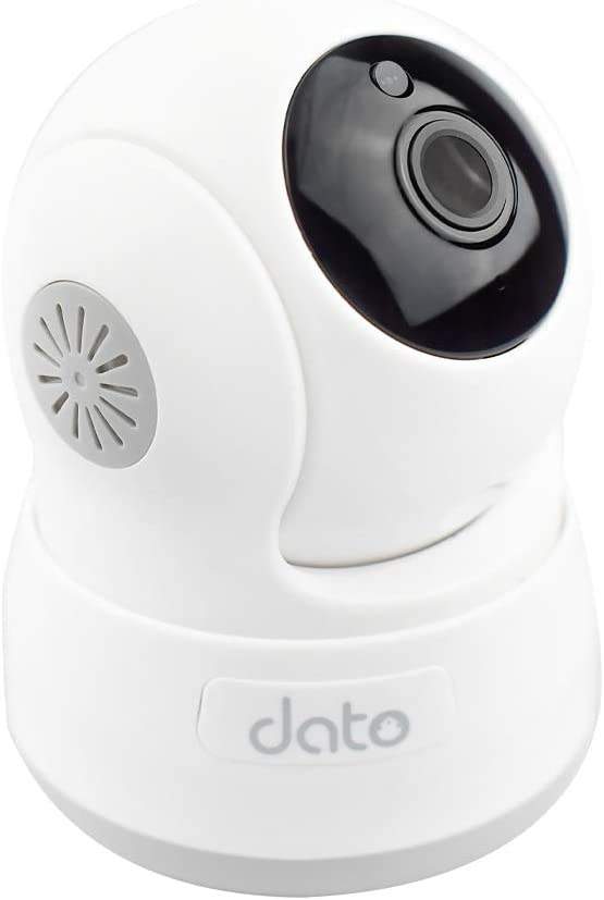 DATO WiFi Home Indoor Security Camera - 1080p HD Baby Monitor, Pan/Tilt/Zoom Motion Detection, Intercom System, Infrared Night Vision, Real Time App Alerts for Pets and Children(C-S200,White)