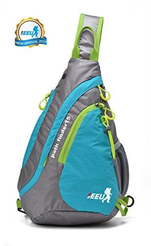 SEEU Waterproof Sling Bag Backpack, Ultralight Multipurpose Outdoor Chest Bag for Men Women Kids 15L