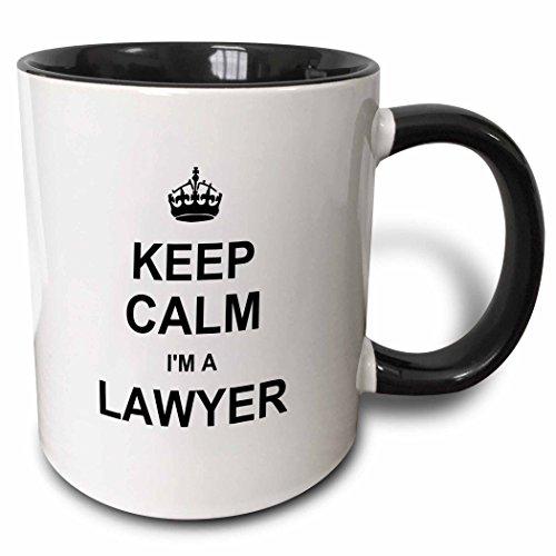 3dRose mug_194470_4 Keep Calm Lawyer