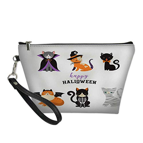 bag for makeupportable cosmetic bagHappy Halloween - cats