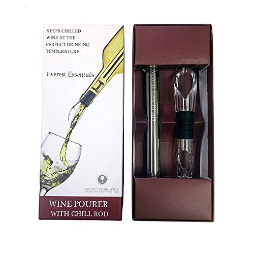 - Wine Chiller, Aerator and Pourer: Enjoy a Glass of Perfectly Chilled Wine with the 3 in 1 Stainless Steel Wine Chill Rod. Everest Essentials Iceless Wine Stick comes in a Wine Accessories Gift Box
