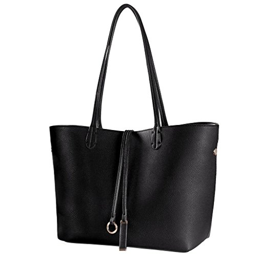 Women Tote Bag, Stylish Top Handle Vegan Leather Handbag Large Work Shoulder Commuter Bag Purse ()