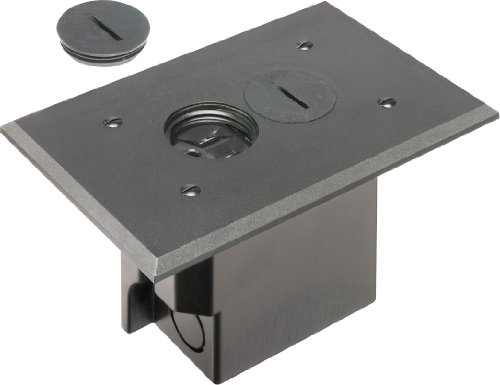 arlington-flbr101bl-1-floor-electrical-box-kit-with-outlet-and-plate-for-installed-floors-1-gang-bla
