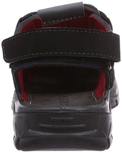 Ricosta Reyk - Sandalias de vestir de material sintético para niño gris - Grau (schwarz/teer 480)