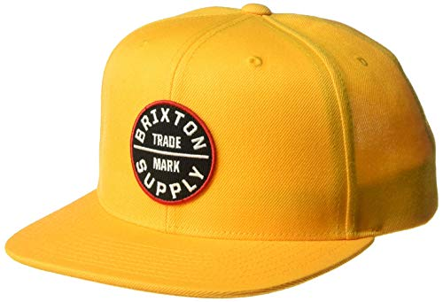 Brixton Men's Oath III Medium Profile Adjustable Snapback HAT, Nugget Gold, O/S