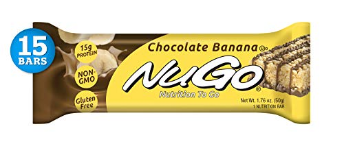 - NuGo Protein Bar, Chocolate Banana, 1.76-Ounce Bars (Pack of 15)
