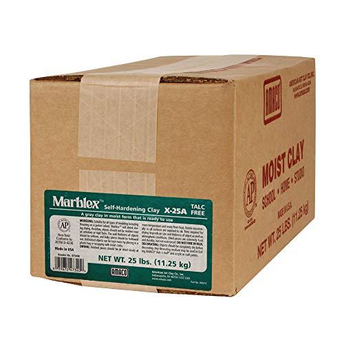 - AMACO AMA47340B Marblex Self-Hardening Clay, Gray, 25 lbs.
