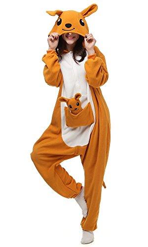 (Decahome Unisex Adult Kangaroo Pyjamas Christmas Costume One Piece Animal Cosplay Onesies Large Height from 168CM-177CM)