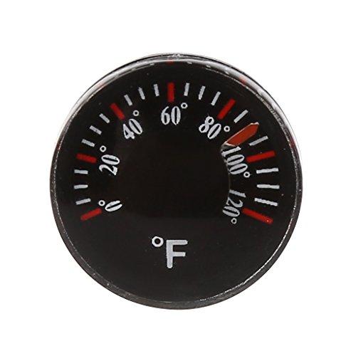 OTGO Diameter 20mm Plastic Circular Thermometer Thermograph Fahrenheit Indoor Outdoor