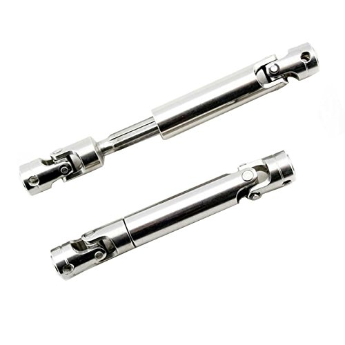 LAFEINA 2PCS Universal Drive Shaft 90-110MM Upgrade Parts for 1/10 RC Crawlers D90 SCX10 SCX0016 Off-Road Model Car ()