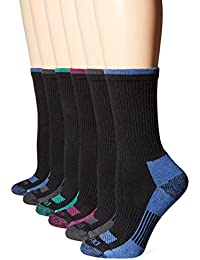 Women's Dritech Advanced Moisture Wicking Crew Sock 6-Pack