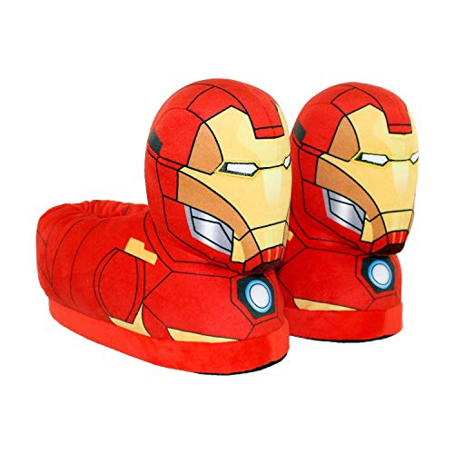 4fc870d0427a 7702-9 - Marvel Classic Avengers - Iron Man Slippers - X-Small ...
