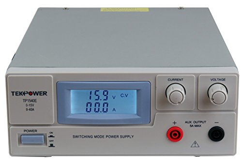 - TekPower TP1540E DC Adjustable Switching Power Supply 15V 40A Digital Display