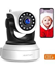 Apeman 720P WLAN Kamera IP Kamera WiFi Überwachungskamera mit Nachtsicht, Bewegungserkennung,2 Wege Audio,Smart Home Kamera,schwenkbar und unterstützt Mikro-SD KarteProduct