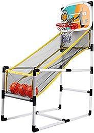 AKOYA Wicker Collection Basketball Arcade Game Folding Basketball Game Machine Basketball Hoop Dual Shot Porta