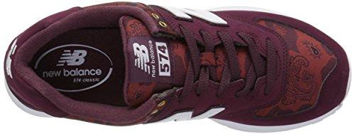 Uomo New Ml574v2 Balance white driftwood Sneaker Rosso Eu Da 42 I44Zwq