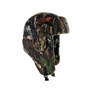 Mad Bomber Fleece Polar Bomber Cap, Mossy Oak Break up, Small