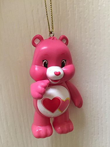 "Love a Lot Care Bear Holiday Christmas Tree Ornament 3"" PVC Figure Figurine Doll Toy"
