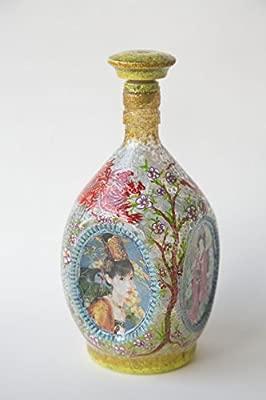 Hecho a mano botella Geisha - decoupage original decoración ...