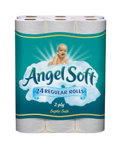 Angel Soft Bath Tissue Regular Roll, White, 24 Count