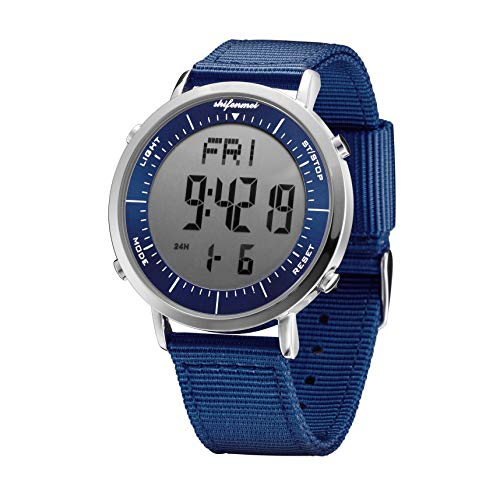 Digital Watches, shifenmei Digital Sports Watch Daily Alarm Hourly Chime Stopwatch 12/24H Date EL Backlight Military…