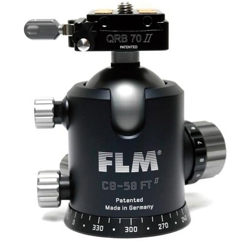 FLM CB-58 FTR Pro 58mm Ballhead with QRP-70 Quick Release Clamp and Camera Plate by FLM
