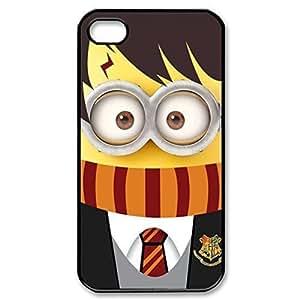 SUUER Rubber Silicone cute minion Harry Potter Designer Personalized Custom Plastic Rubber Tpu CASE for iPhone 5 5s Durable Case Cover