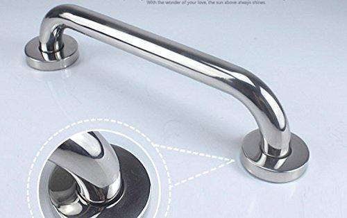 Stainless Steel Handrail Safety Grip Grab Bar Elderly Care Armrest for Toilet,Bathroom, Shower Room, Towel Rack (16-Inch, Silver) by kira-kira.world (Image #6)