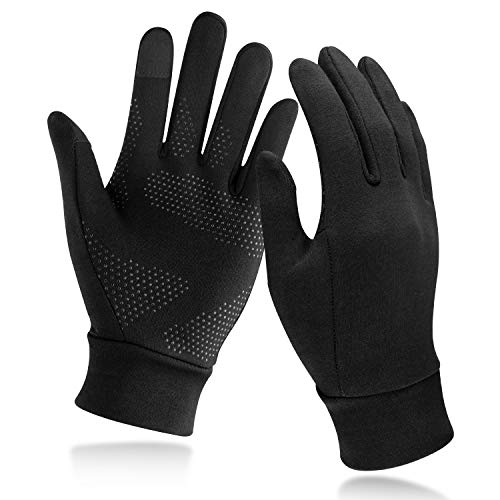 Unigear Lightweight Running Gloves, Touch Screen Anti-slip Warm Gloves Liners for Cycling Biking Sporting Driving for Men Women