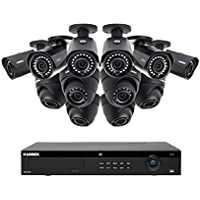 Lorex 16 Channel 4K 4MP 12 Camera Security System NR9163 3TB HDD 6 4MP LNB4421B Bullet Cameras 6 4MP LNE4422B Dome Cameras with Color Night Vision